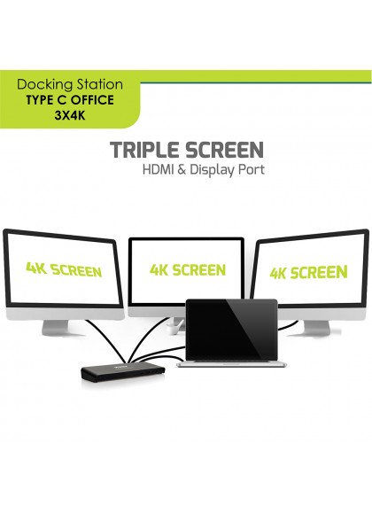 DOCKING TYPE C OFFICE 3 X 4K - EU