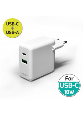 WALL CHARGER COMBO USB-A & USB-C 30W POWER DISTRIBUTION