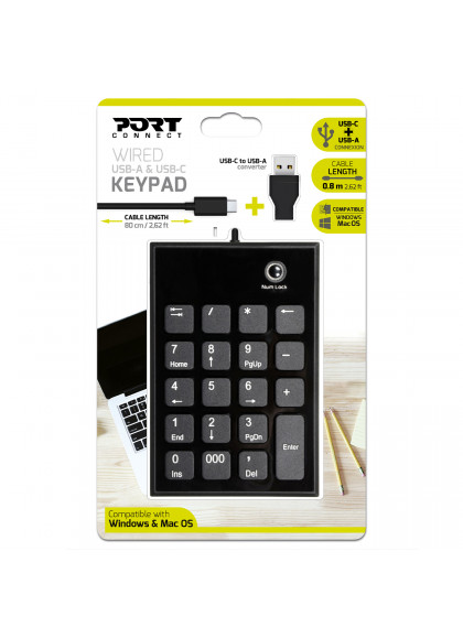 NUMERIC KEYPAD WIRED TYPE C