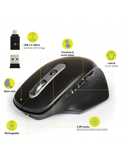 MOUSE RECHARGEABLE BLUETOOTH COMBO EXPERT