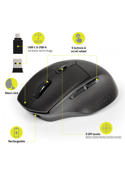 MOUSE RECHARGEABLE BLUETOOTH COMBO PRO
