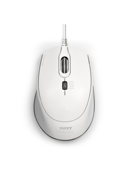 MOUSE OFFICE WIRED SILENT PRO - WHITE