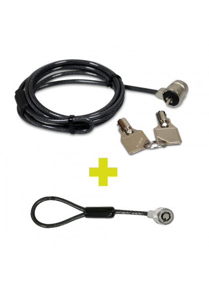 TWIN HEAD KEYED SECURITY CABLE