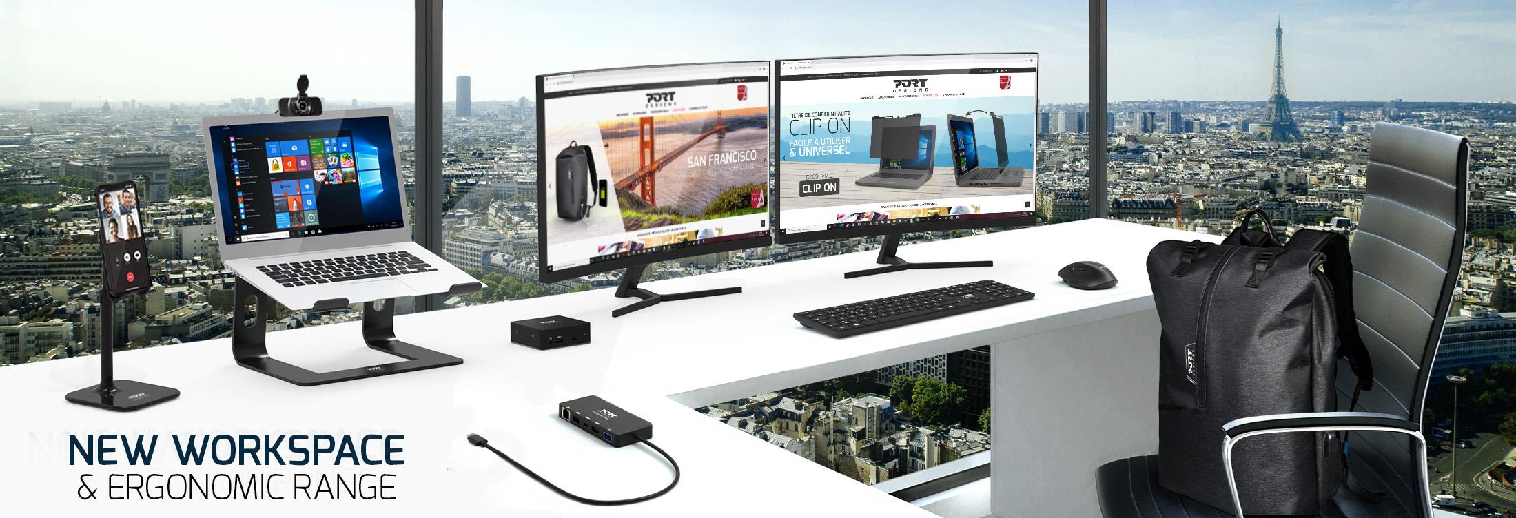 New workspace & ergonomic range